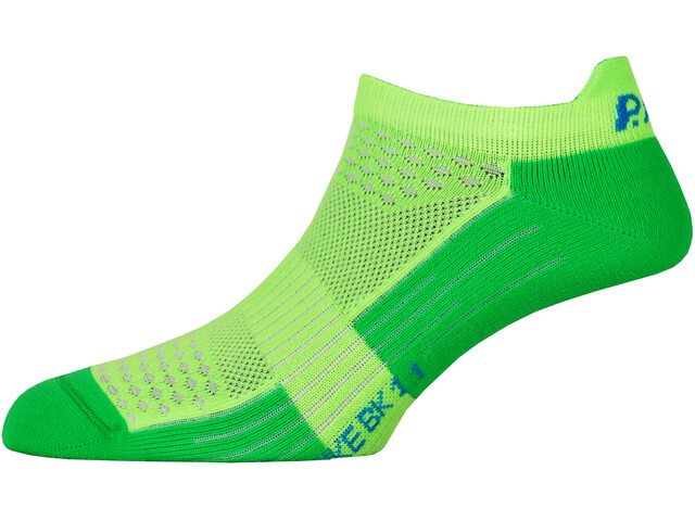 P.A.C. BK 1.1 Bike Footie Zip Chaussettes Homme, neon green